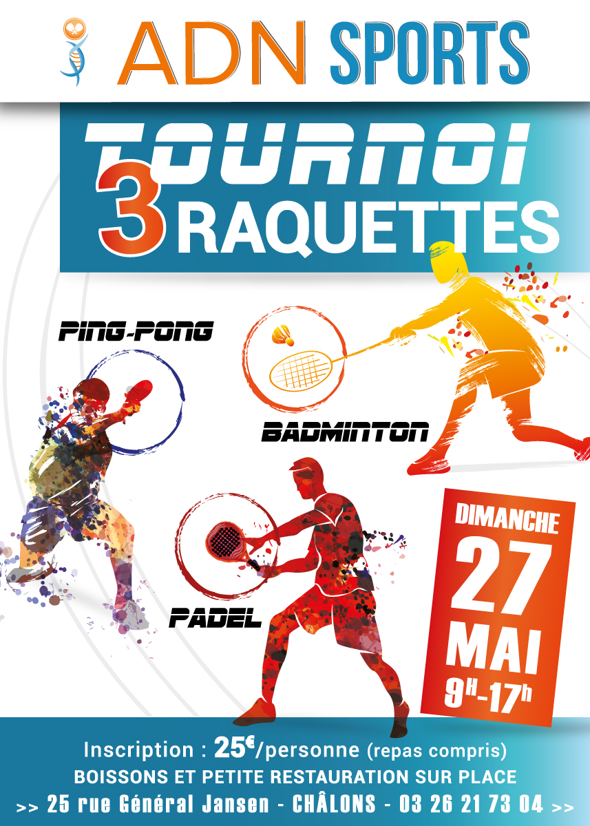 tournois 3 raquettes ADN SPORTS